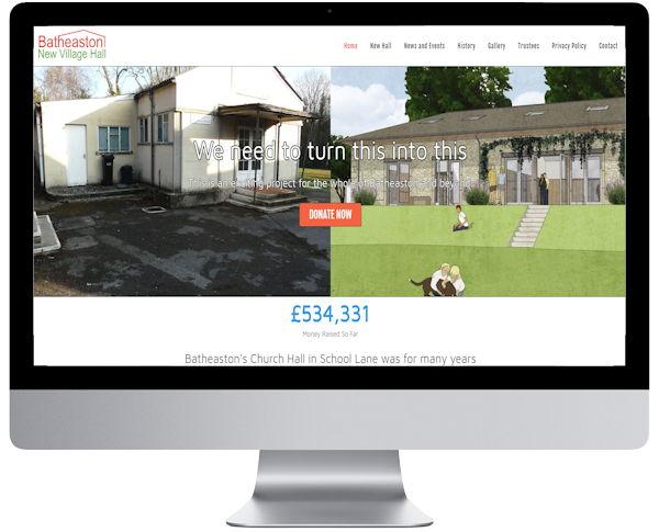 Batheaston village hall website screenshot